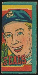 1949-Cliff-Melton-SF-San-Francisco-Seals-Japanese-Baseball-Tour-Menko-Card-PCL