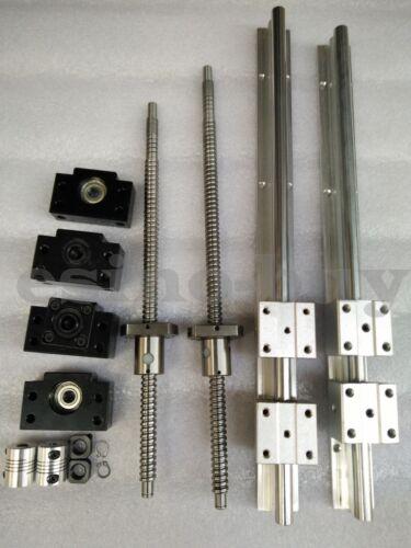 2x SBR20--1500mm Linear Rail/&2 RM1605--1500mm Ballscrew /&BF12//BK12 /&  Coupling