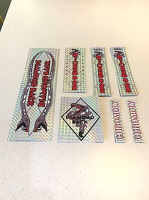Diamondback Pro Snake Decals Sticker Set Suit Your Old School BMX Silver