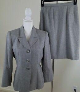 VNTG-Le-Suit-Women-039-s-Size-8P-Petite-White-Black-Skirt-Suit-Career-Office-Wear