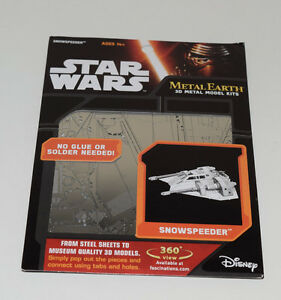Snowspeeder-Star-Wars-3D-Model-Kit-Laser-Cut-Authentic-Metal-Earth-MMS258-NEW