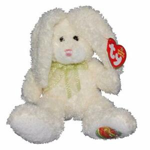 Hoppily The Easter Bunny Rabbit Ty Beanie Baby Retired MWMT Hallmark Exclusive