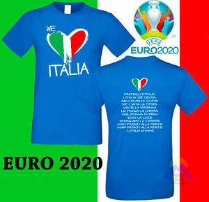 T-shirt NAZIONALE ITALIANA Europei EURO 2020 INNO Mondiale ITALIA Maglia CALCIO