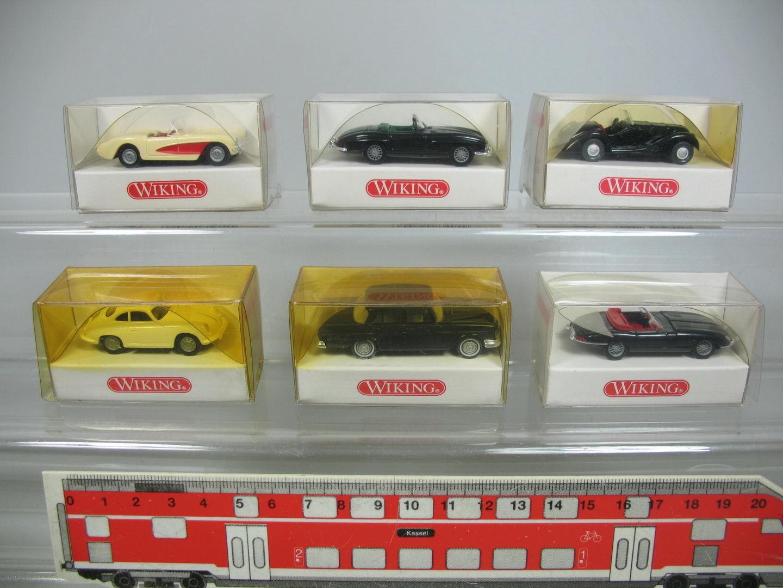 Af82-0, 5 X Wiking H0 Car  834 Mercedes +828 BMW +817 Jaguar +819 etc. , NIP