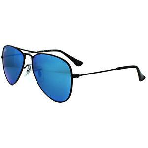 edc9c5da24 Ray-Ban Junior Sunglasses 9506 201 55 Black Blue Flash Mirror ...