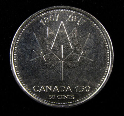 from roll 2017 150th anniversary CANADA 50 CENTS  Half Dollar COIN Unc