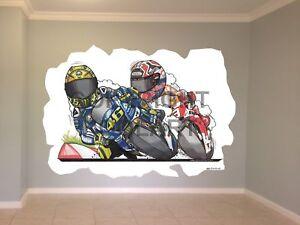 Huge-Koolart-Cartoon-Yamaha-Rossi-Vs-Marquez-Wall-Sticker-Poster-Mural-3227