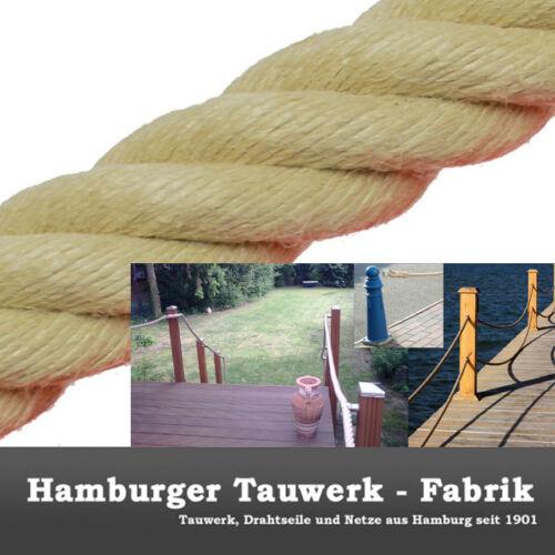 Polyhanf-Historic Tauwerk 60mm//6cm ø Spleitex Tauwerk,Seil 4-schäftig gedreht
