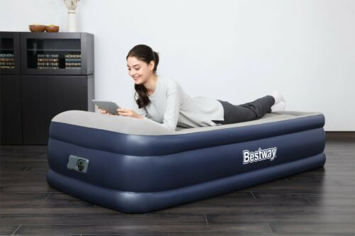 Built-in Pump Single or Queen Bestway Tri-Tech Airbed Air Bed Mattress