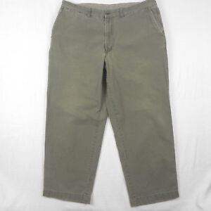 100 Meaured Mens 40x30 oliva cotone verde L taglia piatto l Bean Pantaloni pantaloni 42x32 wq4SaZp