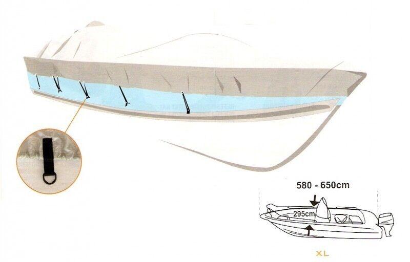 Gewebe Persenning Stiefelpersenning Stiefelplane CovyLux Gr. XL XL XL 580-650 cm 20748 4eaae8