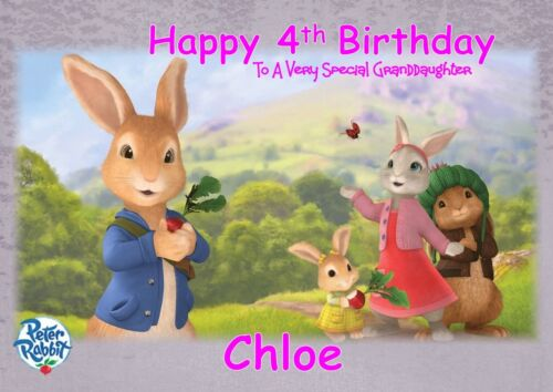 personalised birthday card Peter the Rabbit any name//age//relation.