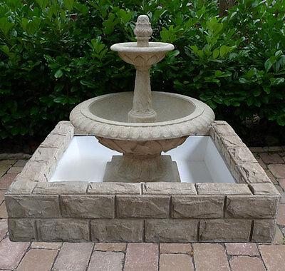2x2m Brunnen Gartenbrunnen Springbrunnen Wasserbassin Bassin Ca26-27-a Festsetzung Der Preise Nach ProduktqualitäT