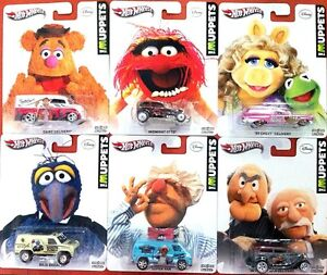 HOT-WHEELS-DISNEY-DIECAST-1-64-THE-MUPPETS-ALL-CHARACTERS-VAN-CARS-VINTAGE-STYLE