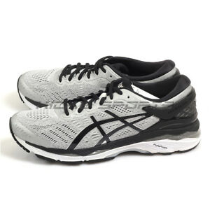 Asics GEL-Kayano 24 (2E) Silver Black Mid Grey Width Running Shoes ... 7c39602c2