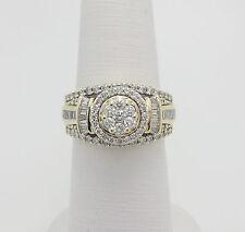 Zales 1CT Flower Diamond Engagement Wedding Ring 10K Yellow Gold
