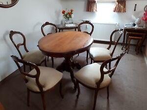 Stilmöbel Tisch Und 6 Stühle Essgruppe Gebraucht Barock Antik Ebay