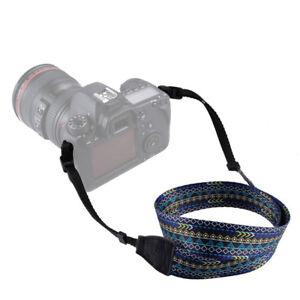 Cotton-Camera-Neck-Shoulder-Strap-Belt-Vintage-for-Canon-Nikon-Pentax-Sony-S