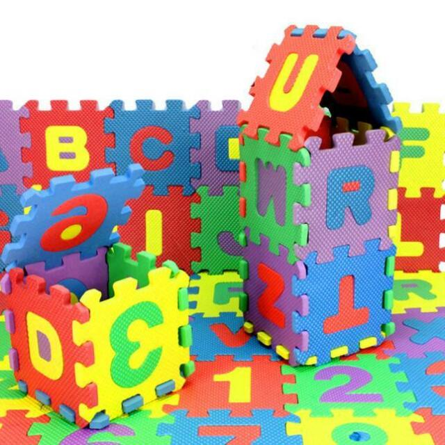 Letter Baby Bath Funny Toy Kids Early Educational Puzzle Gift 36Pcs Number