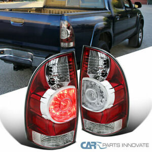For-05-15-Toyota-Tacoma-X-Runner-Red-Rear-LED-Tail-Brake-Lights-Parking-Lamps
