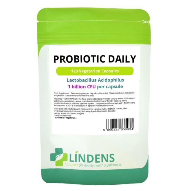 Probiótico Diario 120 tabletas de acidophilus