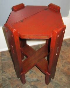 Image Is Loading Antique Folk Art Mission Style Gothic Plant Stand