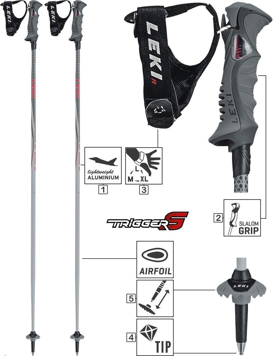 LEKI Alpin Skistöcke  Speed S S S  Ski Alu Stock Trigger S Damen Herren No. 6406796 1070fa