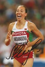 Atletica leggera: MARINA arzamasova firmata 6x4 FOTO D'AZIONE + COA * Rio 2016 *