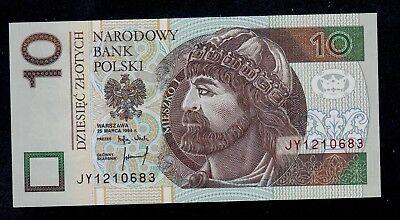 POLAND 10 ZLOTYCH 1994 P 173 UNC