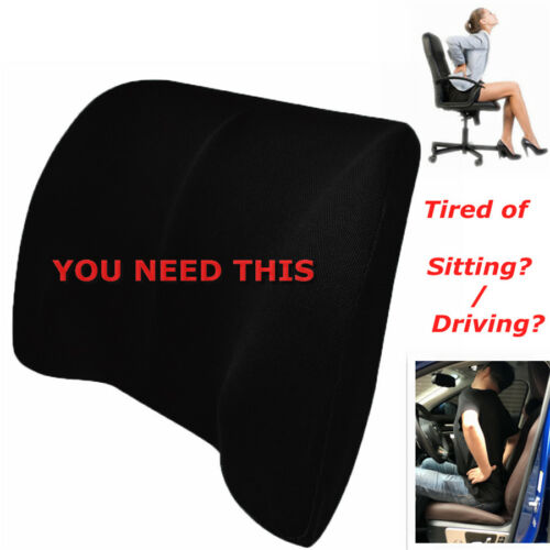 Car back Support Lumbar for seat Support waist Cushion memory foam cotton mesh