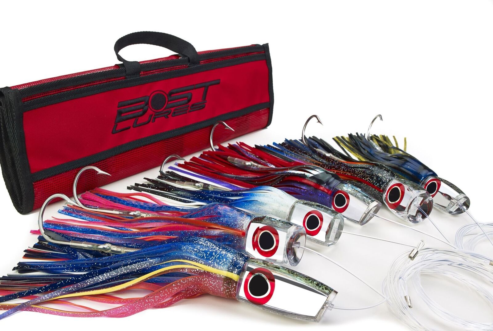 Large Mirrored Marlin Lure Pack by Bost - Rigged/Un-Rigged
