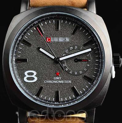 CURREN Fashion Men's Military Sport Quartz Analog Leather Wrist Watch