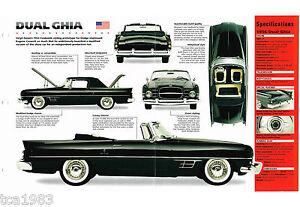 1956/1957/1958 Double Ghia Imp Brochure De Soulager La Chaleur Et Le Soleil