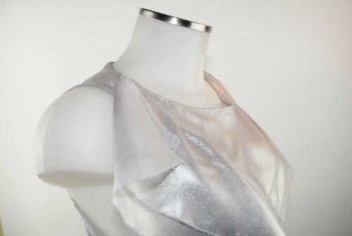 gris à line manches argenté Polyester volants M e Blouse A 38 Top Nouveau sans Apriori xCpSf