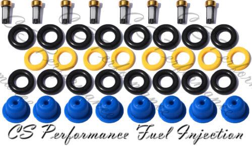 Mercedes V8 Fuel Injector Repair Service Kit Seals Filters Pintle Caps CSKBO18