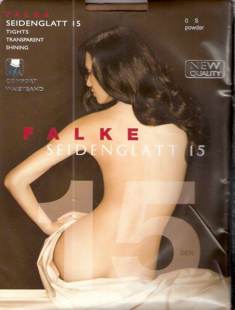 Falke - SEIDENGLATT 15 - Strumpfhose Gr. 0 - VI schwarz, puder, sun
