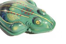 2 Stk. großer Knackfrosch hellgrün (Historisches Blechspielzeug / Tin Toy)