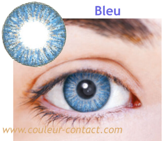 SALE: LENTILLE DE COULEUR BLUE COLOR LENS VERRE CONTACT DARK EYES YEUX FONCES 3M