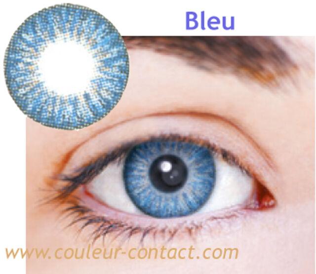 SALE: LENTILLE DE COULEUR BLUE COLOR LENS VERRE CONTACT DARK EYES YEUX FONCES 3M