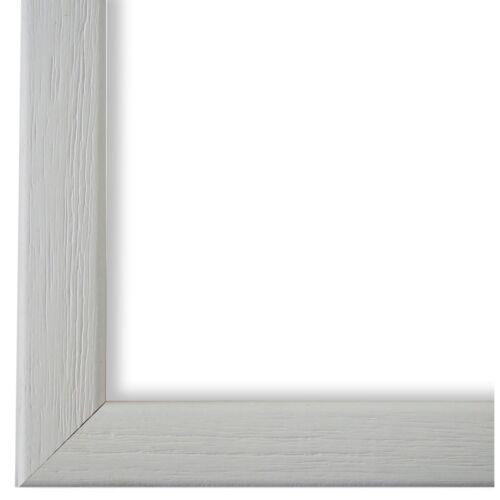NEU alle Größen Bilderrahmen Weiss Retro Vintage Holz Pinerolo 2,3