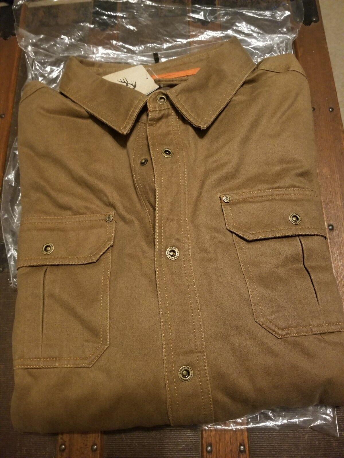 Legendary Whitetails Mens Journeyman Shirt Jacket Tarmac Large Tall