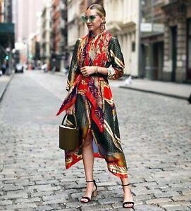 80ad8b0f Zara AW18 Printed Tunic With Belt Shirt Dress Size Ref 8026/707 NWT ...
