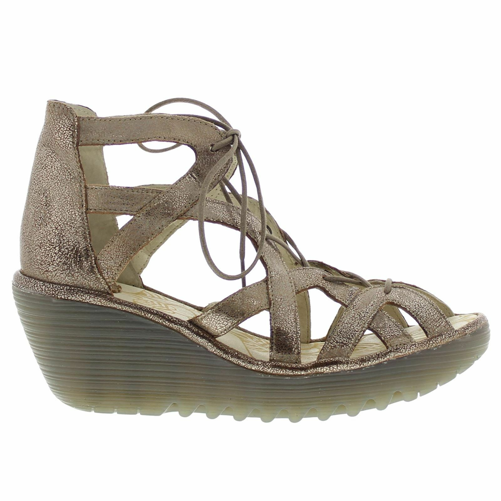Fly London YELI719FLY YELI719FLY London Wedge Gold Damenschuhe Sandales b80527