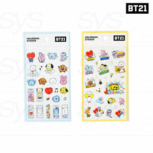 BTS BT21 OfficiaI Authentic Goods PVC Hologram Sticker 2SET + Tracking Number