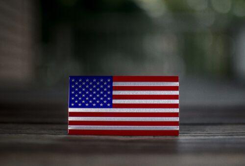 3D METAL American Flag Jeep Emblem Sticker Wrangler 4x4 Liberty Wrangler Rubicon