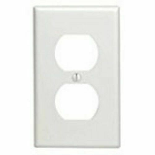 Leviton White 1 Gang Plastic Duplex Outlet Wall Plate 10 Pk For Sale Online Ebay