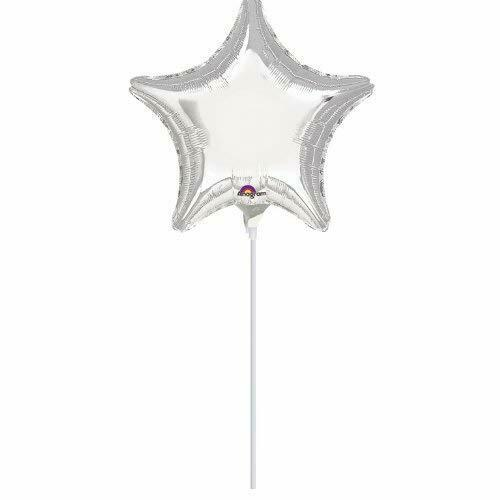 Amscan Metallic Silver Star Mini Foil Balloon
