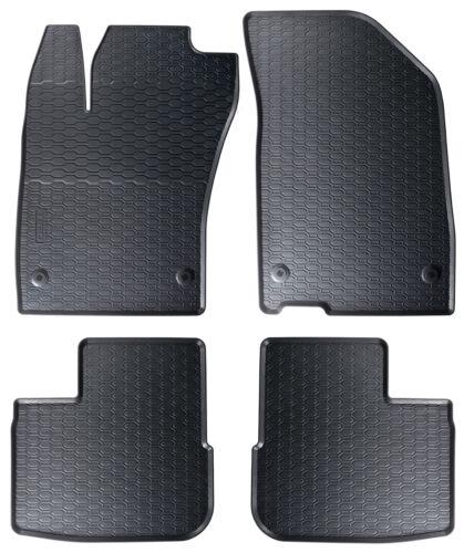 Tapis de sol caoutchouc sur mesure pour Fiat Tipo 2016 Noir 4 pcs