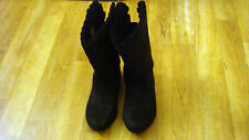 Sonoma Black Faux Suede Ruffled Fashion Dress Boots Toddler Girls Size 11