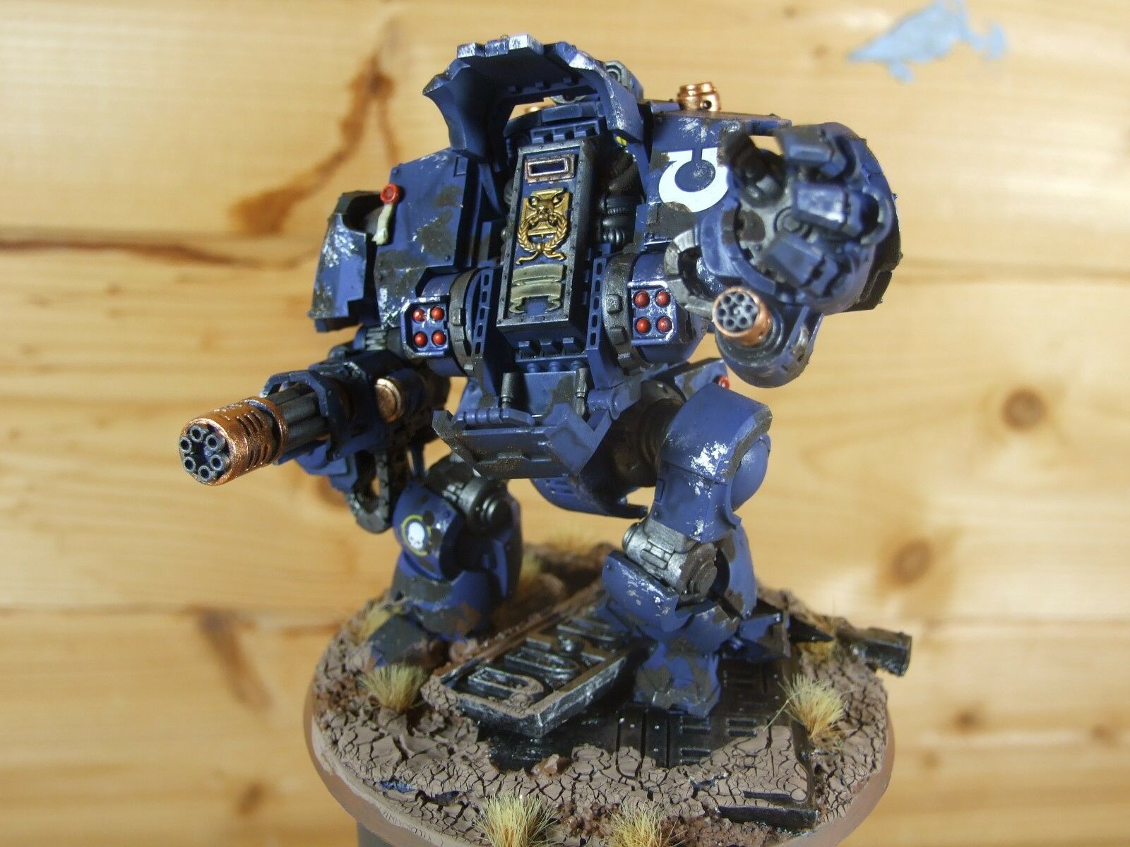 PLASTIC WARHAMMER PRIMARIS REDEMPTOR DREADNOUGHT ULTRAMARINES WELL PAINTED (L.)